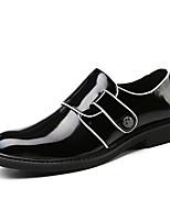 Недорогие -Муж. Комфортная обувь Полиуретан Осень Мокасины и Свитер Черный