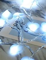 Недорогие -1m Гирлянды 10 светодиоды Синий Для вечеринок 5 V 1 комплект