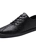 Недорогие -Муж. Комфортная обувь Полиуретан Весна На каждый день Кеды Нескользкий Черный / Коричневый