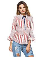 Недорогие -узкая женская блузка азиатского размера - однотонная подставка
