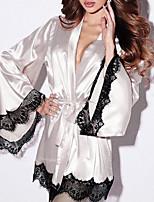abordables -Femme Uniformes & Tenues Chinoises Vêtement de nuit Dentelle, Couleur Pleine