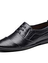 Недорогие -Муж. Комфортная обувь Полиуретан Весна лето На каждый день Мокасины и Свитер Нескользкий Черный / Коричневый / Хаки