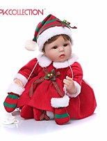 Недорогие -NPKCOLLECTION Куклы реборн Кукла для девочек Девочки 18 дюймовый Подарок Очаровательный Искусственная имплантация Коричневые глаза Детские Девочки Игрушки Подарок