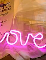 Недорогие -1 комплект LOVE LED Night Light Розовый Творчество Батарея