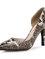 cheap -Women's Heels Stiletto Heel Pointed Toe PU Classic Spring & Summer Yellow / Green / Coffee