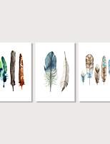 Недорогие -С картинкой Отпечатки на холсте - Модерн Этно Modern
