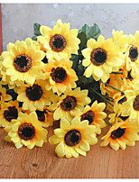 Недорогие -Искусственные Цветы 3 Филиал Классический Деревня Свадебные цветы Подсолнухи Букеты на стол