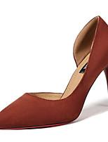 Недорогие -Жен. Полиуретан Весна Минимализм Обувь на каблуках На шпильке Заостренный носок Черный / Бежевый / Коричневый