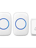 Недорогие -новый беспроводной дверной звонок один на два музыка дин дон невидимый дверной звонок накладной белый и черный