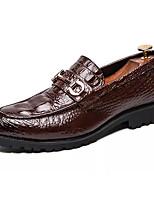 Недорогие -Муж. Комфортная обувь Полиуретан Весна лето На каждый день Мокасины и Свитер Нескользкий Черный / Коричневый