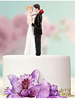 Недорогие -Украшения для торта Праздник / Свадьба / Семья Любовь / Классическая пара ABS смолы Свадьба / День рождения с Цветовые блоки 1 pcs Картонная коробка