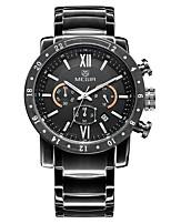 Недорогие -Муж. Наручные часы Кварцевый Черный Повседневные часы Аналого-цифровые Мода - Черный / Нержавеющая сталь