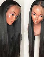 Недорогие -Не подвергавшиеся окрашиванию Необработанные натуральные волосы Лента спереди Парик Перуанские волосы Шелковисто-прямые Парик 130% Плотность волос / Природные волосы / Парик в афро-американском стиле