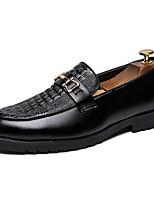 Недорогие -Муж. Кожаные ботинки Наппа Leather Весна & осень Деловые / На каждый день Мокасины и Свитер Доказательство износа Черный