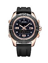 Недорогие -Муж. Наручные часы Кварцевый силиконовый Материал ремешка Черный Повседневные часы Аналого-цифровые На каждый день Мода - Розовое золото / Нержавеющая сталь