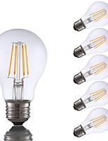 Недорогие -6 шт. Gmy a19 светодиодные лампы Эдисона 4 Вт светодиодные лампы накаливания эквивалент 32 Вт с e26 база 2700 К для спальни гостиной дома декоративные