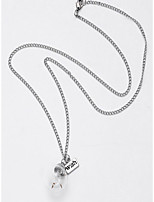 Недорогие -Муж. Ожерелья с подвесками Серебряный 50 cm Ожерелье Бижутерия 1шт Назначение Повседневные