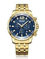 Недорогие -Муж. Наручные часы Кварцевый Золотистый Защита от влаги Календарь Аналого-цифровые На каждый день Мода - Синий / Нержавеющая сталь