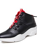 Недорогие -Муж. Комфортная обувь Полиуретан Зима Спортивные Кеды Дышащий Черный