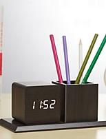 Недорогие -Будильник Цифровой деревянный Автоматический 1 pcs