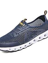 Недорогие -Муж. Комфортная обувь Сетка / Полиуретан Весна На каждый день Мокасины и Свитер Нескользкий Серый / Синий