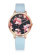 Недорогие -Жен. Нарядные часы Кварцевый Стеганная ПУ кожа Черный / Белый / Розовый Cool Аналоговый На каждый день Мода - Черный Розовый Темно-синий