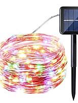 Недорогие -1 шт. 10 м 100led солнечной энергии светодиодные струнные светильники солнечная фея освещение водонепроницаемый яркий теплый / белый / красочный