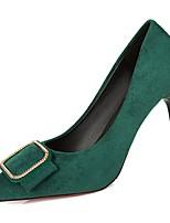 Недорогие -Жен. Полиуретан Весна Обувь на каблуках На шпильке Заостренный носок Черный / Красный / Зеленый / Для вечеринки / ужина