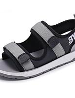 Недорогие -Мальчики Обувь Синтетика Лето Удобная обувь Сандалии для Для подростков Черный / Серый / Синий