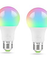 Недорогие -ZDM® 2pcs 4.5 W 400-450 lm E26 / E27 Умная LED лампа A19 18 Светодиодные бусины SMD 5050 Smart / Контроль APP / Новый дизайн RGBWW 100-240 V