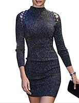Недорогие -Жен. Оболочка Платье - Однотонный Мини