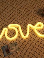 Недорогие -1шт LOVE LED Night Light Тёплый белый Аккумуляторы AA Творчество <5 V