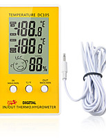 Недорогие -DC105 Портативные / Прочный Датчик температуры -50℃~70℃ Семейная жизнь, Измерение температуры и влажности, LCD дисплей