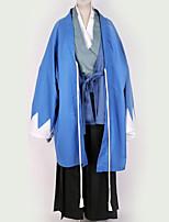Недорогие -Вдохновлен Косплей Косплей Аниме Косплэй костюмы Кимоно Однотонный кимоно Пальто / Костюм Назначение Муж. / Жен.