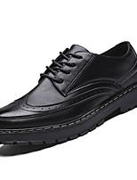 Недорогие -Муж. Комфортная обувь Полиуретан Весна На каждый день Туфли на шнуровке Доказательство износа Черный / Серый / Коричневый