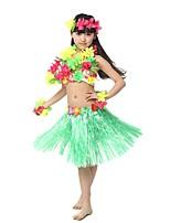 Недорогие -Гавайский Хула танцор Гавайские костюмы Трава юбка Девочки Взрослые Этнический Винтажная коллекция Рождество Хэллоуин Карнавал Фестиваль / праздник Лён / Хлопок Полиэстер Инвентарь