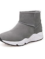 Недорогие -Жен. Полиуретан Зима Ботинки На плоской подошве Ботинки Черный / Серый / Желтый