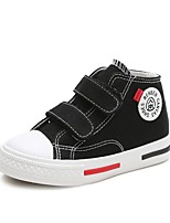 Недорогие -Девочки Обувь Полотно Весна & осень Удобная обувь Кеды для Дети / Для подростков Белый / Черный / Красный