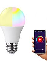 Недорогие -1 шт. 7 Вт 600-700 лм e26 e27 семь цветных обесцвеченных светодиодных лампочек земного шара 20 светодиодных шариков smd 5730 с градиентом цвета затемняемый контроль приложения rgbw 85-265 v