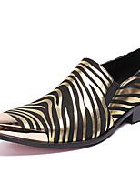 Недорогие -Муж. Официальная обувь Наппа Leather Осень Деловые / Английский Мокасины и Свитер Сохраняет тепло Черный / Для вечеринки / ужина