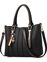 cheap -Women's Polyester / PU Top Handle Bag Solid Color Khaki / Brown / Black