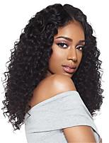 Недорогие -человеческие волосы Remy Полностью ленточные Лента спереди Парик Ассиметричная стрижка стиль Бразильские волосы Афро Квинки Крупные кудри Парик 130% 150% 180% Плотность волос