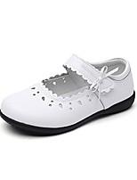 Недорогие -Девочки Обувь Кожа Весна & осень Удобная обувь На плокой подошве для Дети / Для подростков Белый / Черный