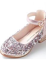 Недорогие -Девочки Обувь Синтетика Весна & осень Детская праздничная обувь / Крошечные Каблуки для подростков Обувь на каблуках для Для подростков Черный / Серебряный / Розовый