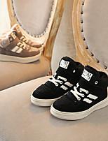 Недорогие -Мальчики / Девочки Обувь Кожа Зима Удобная обувь Кеды для Дети Черный / Бежевый
