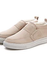 Недорогие -Муж. Комфортная обувь Замша Зима Мокасины и Свитер Черный / Бежевый / Серый