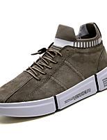 Недорогие -Муж. Комфортная обувь Полиуретан Весна На каждый день Кеды Дышащий Черный / Серый / Хаки