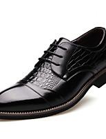 Недорогие -Муж. Кожаные ботинки Кожа Весна & осень Деловые / На каждый день Туфли на шнуровке Дышащий Черный
