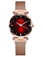 Недорогие -Жен. Нарядные часы Кварцевый Черный / Розовое золото Имитация Алмазный Аналоговый На каждый день Мода - Красный Зеленый Синий