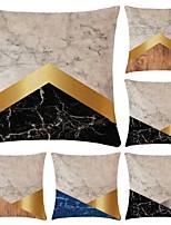 Недорогие -6 штук Хлопок / Лён Наволочка, Простой геометрический Простой Геометрия